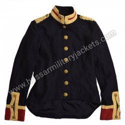 Women Dobby Pea Black Coat