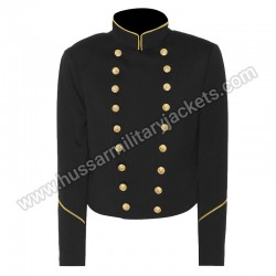 Black Wool Military Jacket