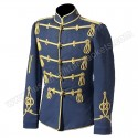 Military Blue Officer Coat With Golden Braid