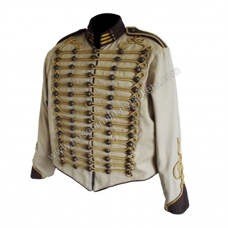 Hussar Military jacket with gold braiding