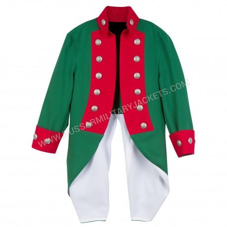 Deluxe Children American Revolutionary War Continental Marine Corps Uniform Jacket