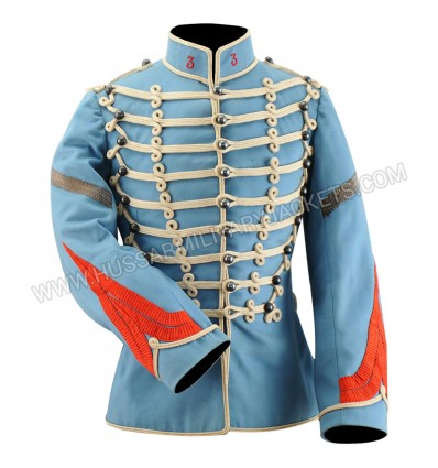 DOLMAN OF A BRIGADIER FOURRIER OF THE 3rd REGIMENT OF HUSSARD OF SENLIS, model 1872 modified 1887-1899.