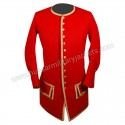 French Navy Officer Red Wool Coat