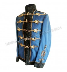 Hussars Dolman Officers Blue Tunic Uniform jacket