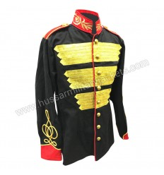 Military style Gold Bullion Ribbons Hussar jacket