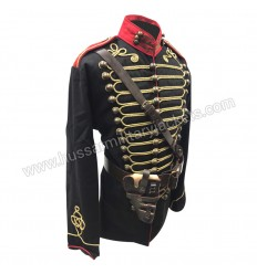 Steampunk Military Army Officers Gold Braiding Hussar Jacket