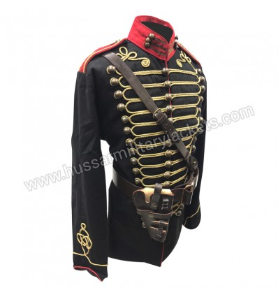 Steampunk 4 pcs Military Army Officers Antique Braiding Hussar Jacket