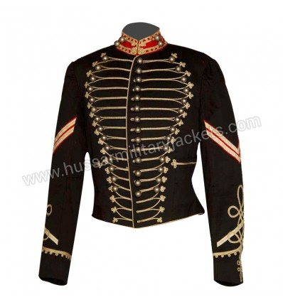 BLACK WOOL AMERICA CAVALRY JACKET