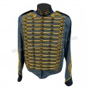 Steampunk Civil War Blue Wool Military Jacket