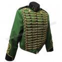 Steampunk Military Jacket in Bottle Green Wool