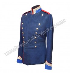 Medium Blue Main Body Sky Blue Collar Cuff Red Piping and shoulder With Silver Braid And Chrome Buttons