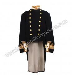 Full Dark Blue Commander Early 20th Century Tail Coat Dress Jacket