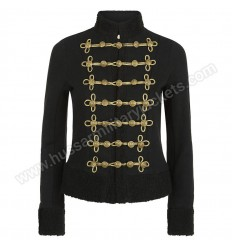 Metallic Shearling Military Jacket