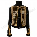 Pelisse lieutenant of 7th hussar Black Wool & Golden Braid Jacket