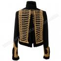 Pelisse lieutenant of 7th hussar Black Wool & Golden Braid Jacket