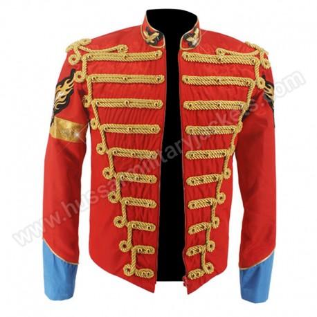 rare mj michael jackson red retro england military jacket