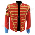 Rare MJ Michael Jackson Red Retro England Military Jacket