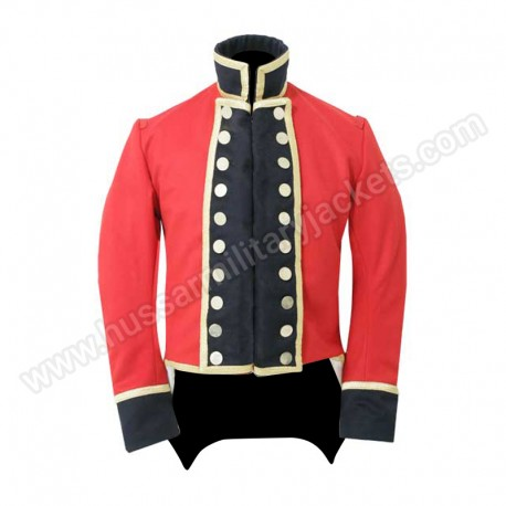 Red Wool Officers Coat