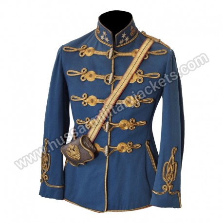Captain and Commander Machine-gun Department Hussar Regiment Military Officer Jacket