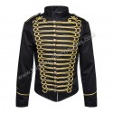 Hussar Military Jacket (Black/Gold)