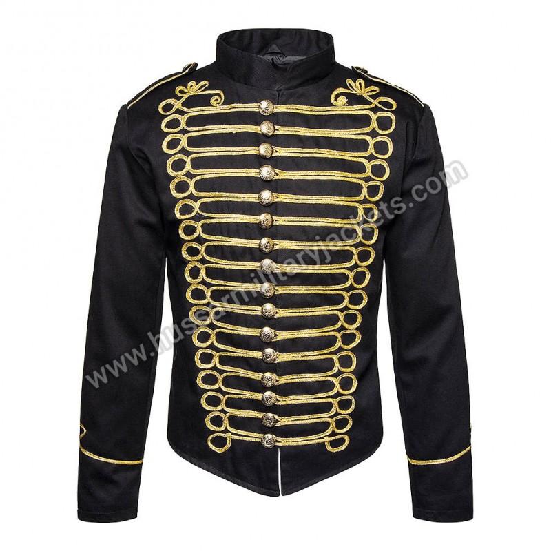 f5033199d Hussar Military Jacket (Black/Gold)