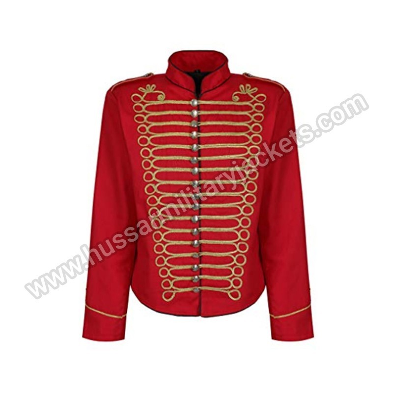 8631f8a4583 Red Gold Officer Military Drummer Parade Jacket