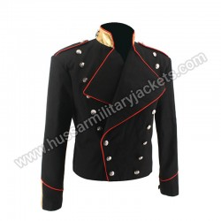 Rare MJ Michael Jackson Black Military England Style Informal Cool Jacket Outerwear