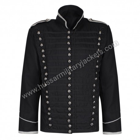 Men Military Drummer Steampunk Punk Black USSARO PARADE Gothic Jacket