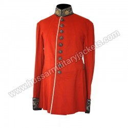 British 1880c County Scarlet Dress Tunic
