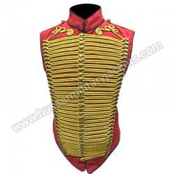 Red Gold Hussar Waist coat