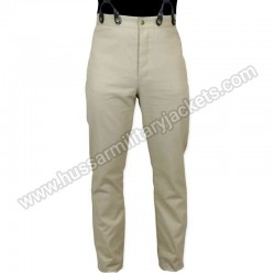 Classic Mens Trousers Khaki Twill