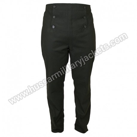 Historical Emporium Men High Waist Regency Fall Front Trousers