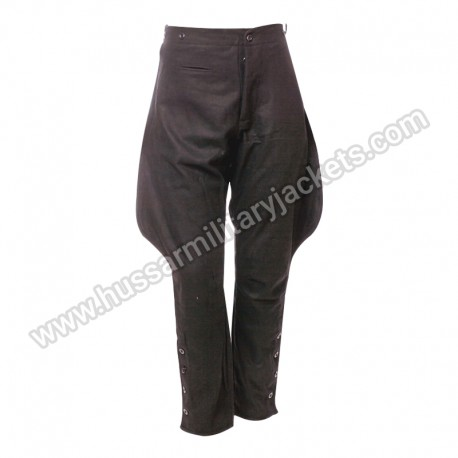 Ww2 German Allgemeine Ss Black Breeches Trouser