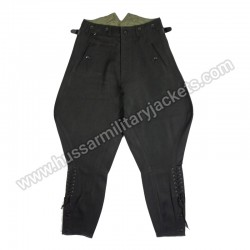 Ww2 German Elite Black Gabardine Breeches Trouser