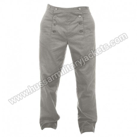 Steampunk Victorian Cosplay Costume Architect Men Pants Grey Trousers