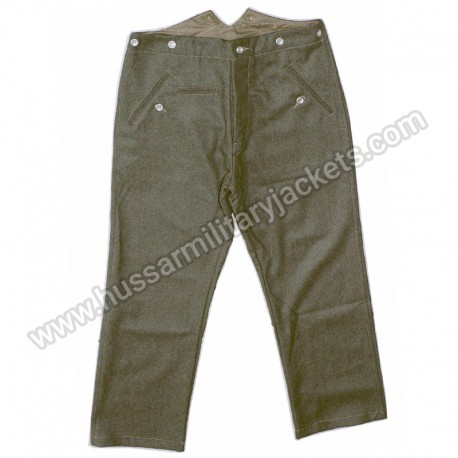 German Field Green Wool Trousers