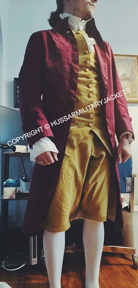 Thank you all for the care and attention you showed in constructing this frock coat for me! It looks and fits wonderfully and is precisely what I needed.
