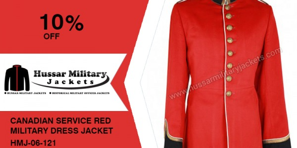 Canadian Service Red Military Dress Jacket