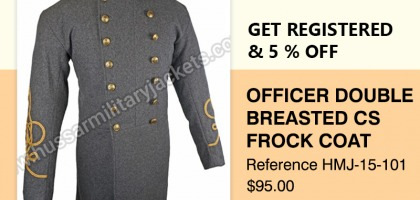 Officer Double Breasted CS Frock Coat