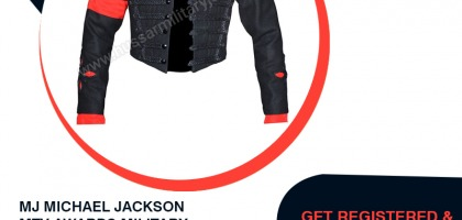 MJ MICHAEL JACKSON MTV AWARDS MILITARY JACKET
