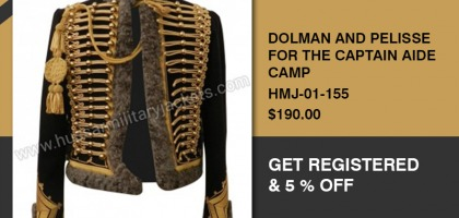 DOLMAN AND PELISSE FOR THE CAPTAIN AIDE CAMP