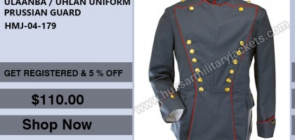 ULAANBA / UHLAN UNIFORM PRUSSIAN GUARD