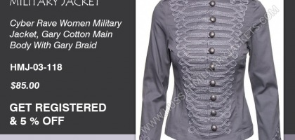 CYBER RAVE WOMEN MILITARY JACKET